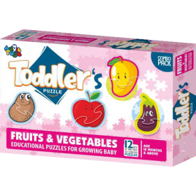 TODDLER'S PUZZLES FRUITS & VEGETABLES