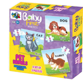 BABY FIRST PUZZLE PET ANIMALS