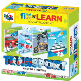 FIX N LEARN TRANSPORTS PUZZLE